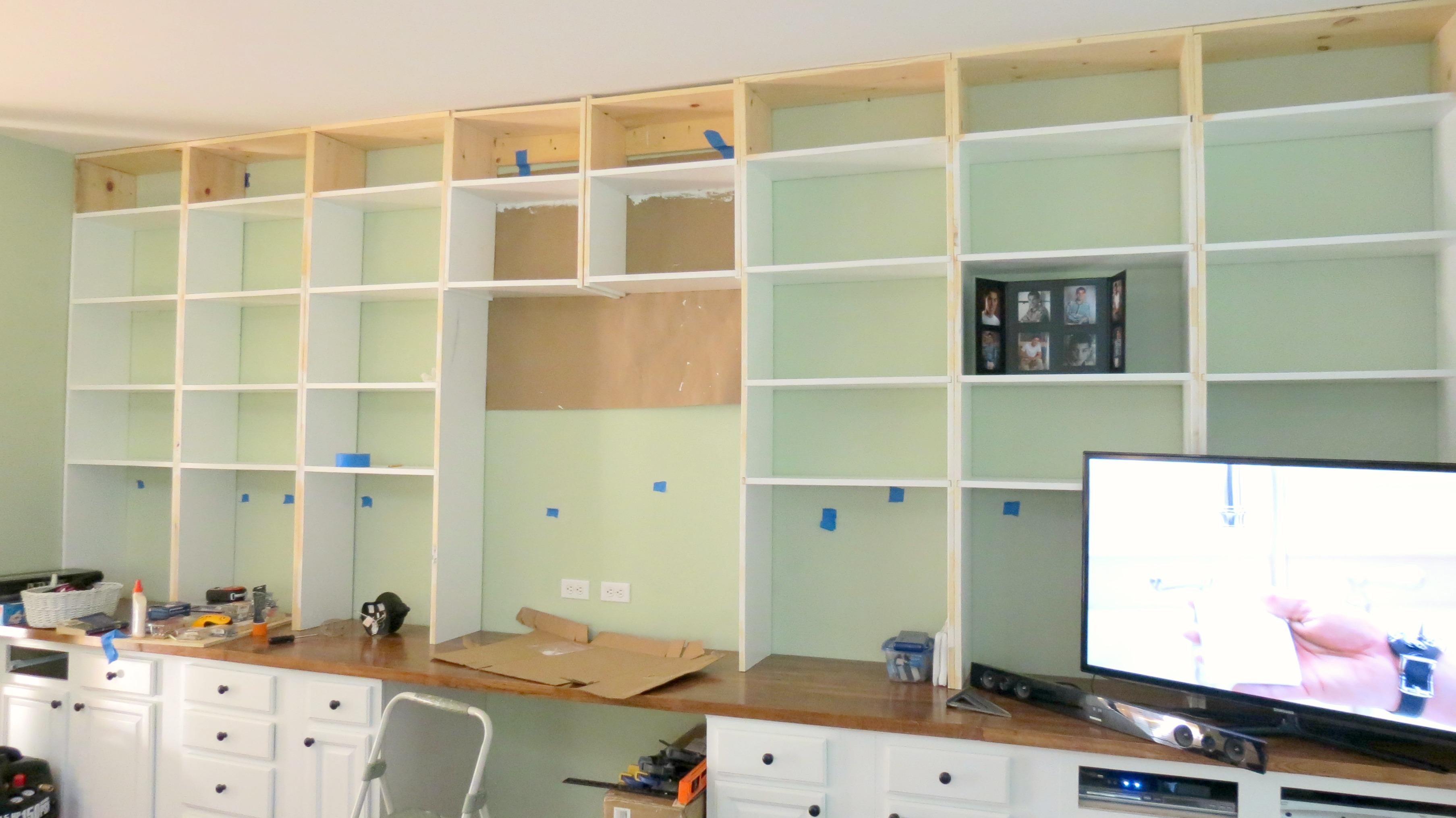 The Building Of The Bookcases 6 The Power Drill And The
