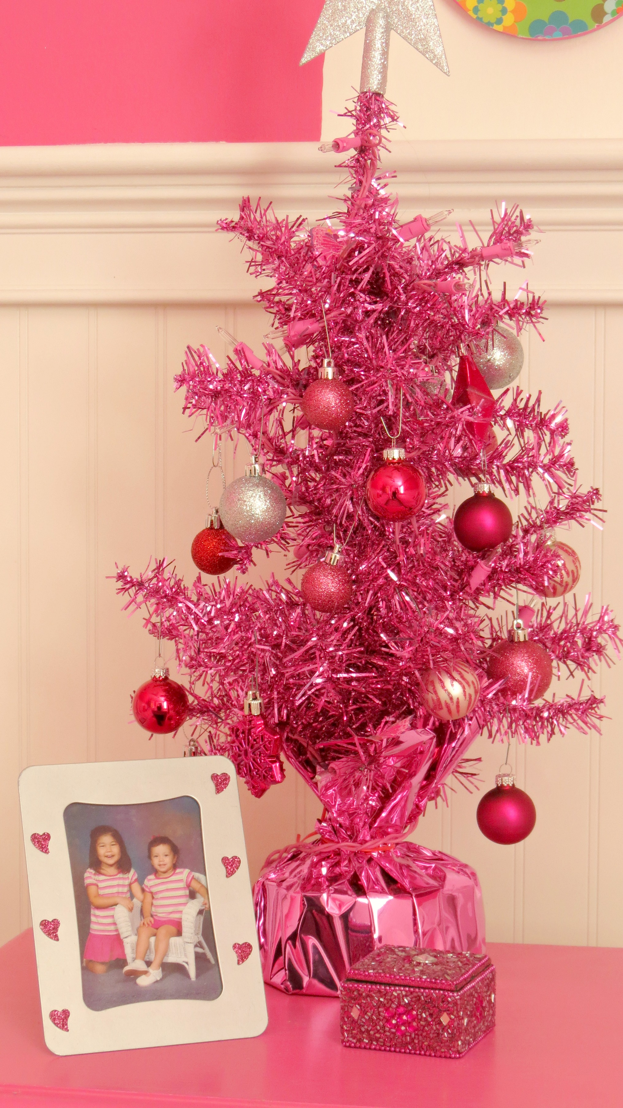 A Couple Of Years Ago, We Bought Our Girls Christmas Trees For Their  Bedrooms Daughter #1's Tree Is Fuschia Like Her Room