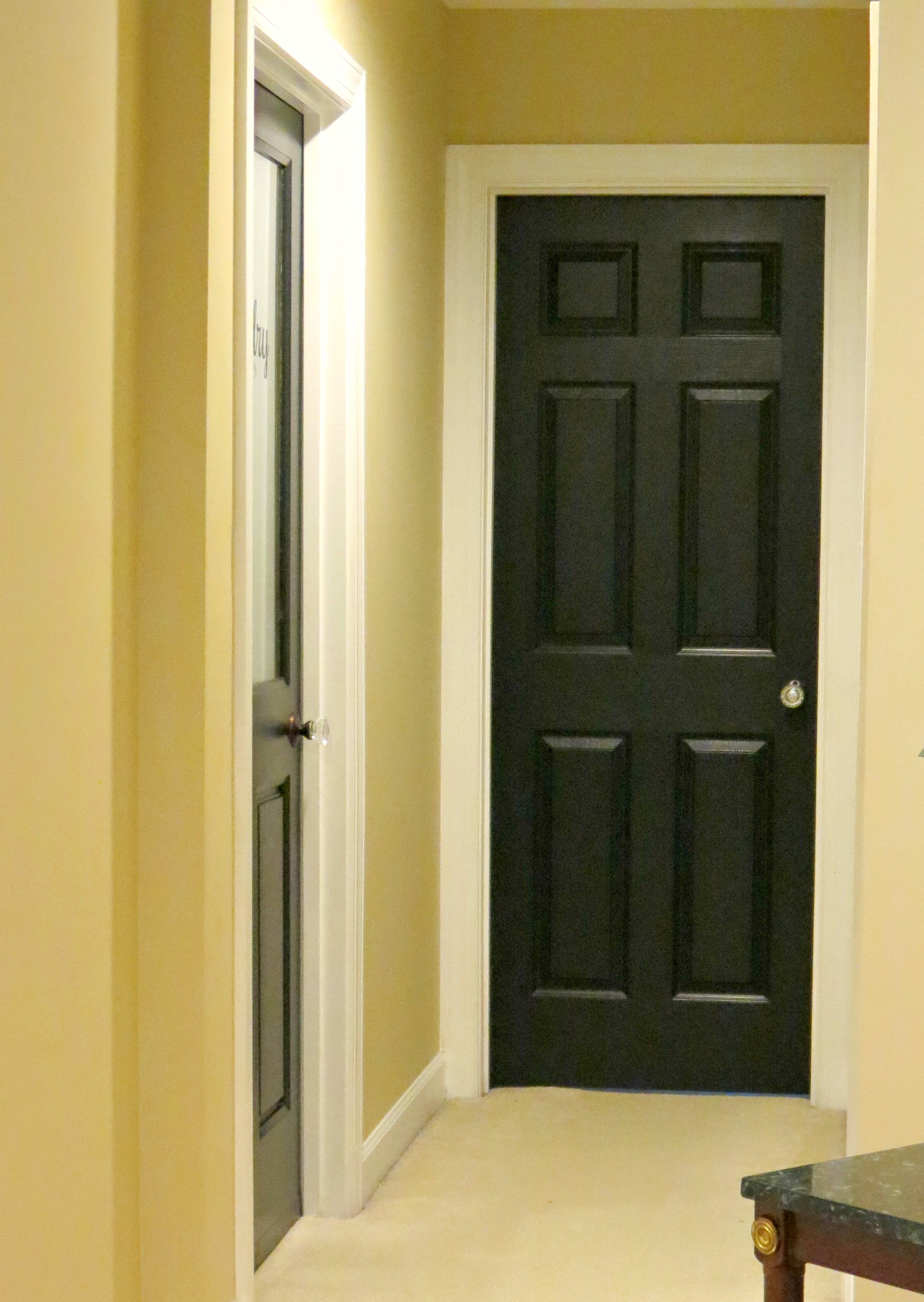love my new doors and door knobs another step closer to a finished. Black Bedroom Furniture Sets. Home Design Ideas