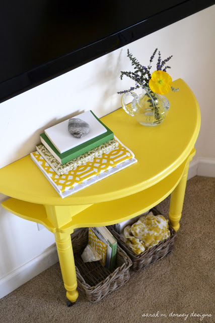 Yellow Table Close Up
