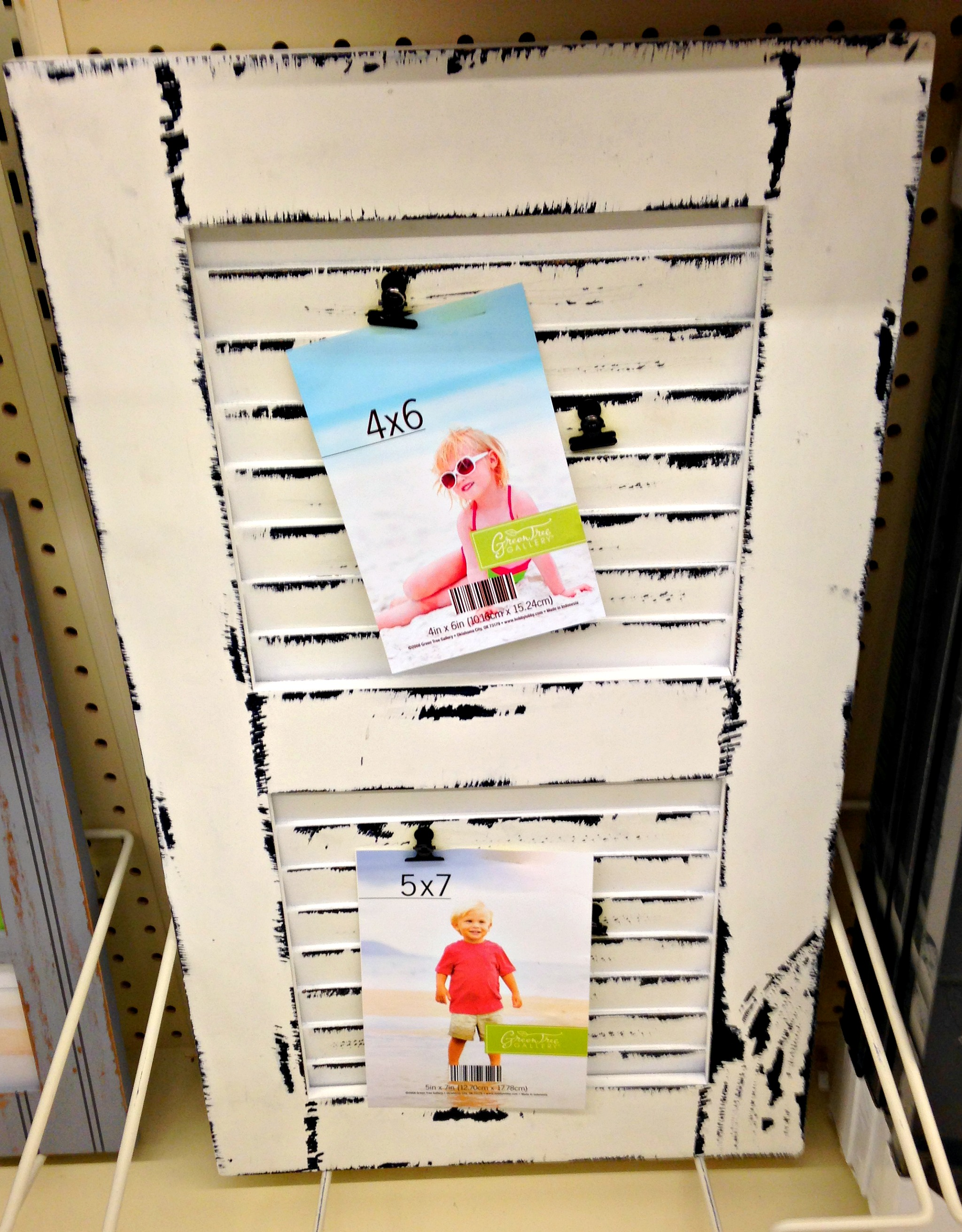 Hobby lobby trip exactly one year later then i saw these black frames with beadboard the clips that hold the pictures are more symmetrical do any of my ocd readers see what i see jeuxipadfo Image collections
